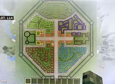 The layout of the walled city I'm building Minecraft Castle Blueprints, Minecraft Wall, Minecraft Banner Designs, Cute Minecraft Houses, Minecraft House Designs, Amazing Minecraft, Minecraft Creations, Minecraft Crafts, Minecraft Buildings