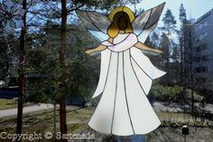 stained glass heart with wings pattern - Google Search