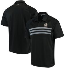 adidas 2017 PGA Championship 3-Stripe Competition climacool Polo - Black/Gray - $74.99