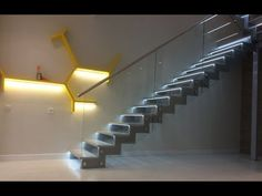 AUTOMATIC STAIR LIGHTING Automatic lighting sequentially illuminates every step when going along the staircase at night. Stair Lighting, Stairs, Night, Home Decor, Stairway, Decoration Home, Staircases, Room Decor, Ladders