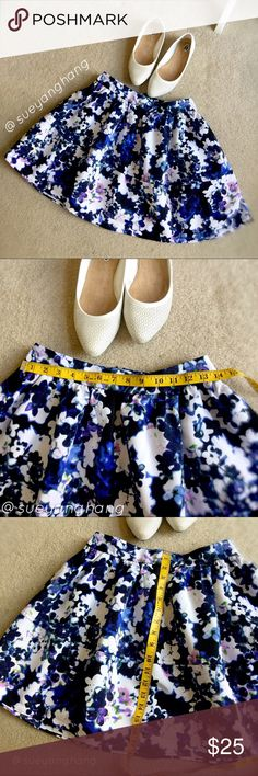 EXPRESS Gathered Floral Circle Skirt BRAND NEW WITH PRICE TAGS STILL ATTACHED! Perfect for a lazy but effortless day at work! Express Skirts A-Line or Full