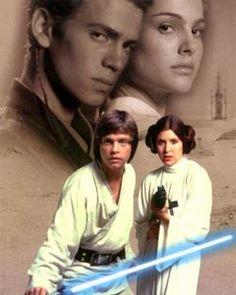 Anakin,Padme,Luke and Leia Skywalker-Star Wars