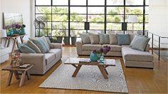Francis 2 Piece Fabric Lounge Suite