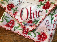 Vintage OHIO Souvenir HandkerchiefPrinted by ErinNicholesCloset