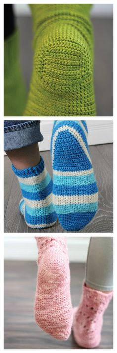 What's so intimidating about crocheting a simple sock? Primarily, the heel is the trouble! Rohn Strong's excellent book Step Into Crochet will help you bring any crochet sock pattern to heel...literally! Learn about three of the most common crochet sock heels here.