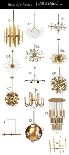 Brass fixtures $1000 and up! See fixtures in every price range (including under $100!) here- http://www.abeautifulmess.com/2015/08/brass-light-fixtures-for-every-budget-.html#