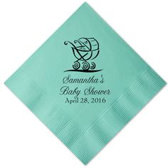 Baby Shower Personalized Napkins - 25 pieces