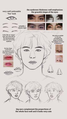 Portrait Sketches, Art Drawings Sketches Simple, Bts Drawings, Anatomy Bones, Anatomy Art, Anime Poses Reference, Drawing Reference, Drawing Techniques, Drawing Tips