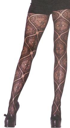 30b951edd31 NOUVEAU LACE TIGHTS - These gorgeous pantyhose feature an antique-inspired  vintage nouveau lace pattern