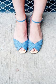 be one step ahead with denim sandals