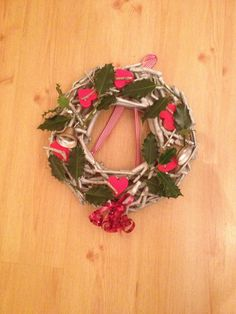 Wreath with ribbon and bells