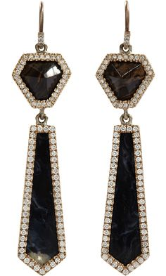 Monique Péan Stromatolite, Peruvian Opal & Diamond Earrings at Barneys