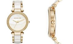 Michael Kors Women's Parker Two-Tone Stainless Steel and Acetate Bracelet Watch 39mm MK6400