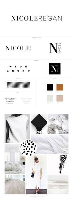 Nicole Regan Branding + Web Design by White Oak Creative - logo design, wordpress theme, mood board inspiration, blog design idea, graphic design, branding