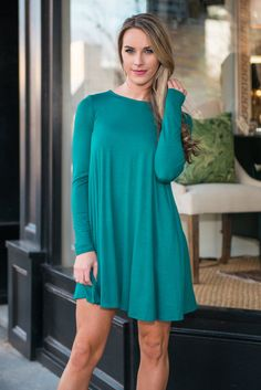 """""""Wine And Dine Dress, Teal"""" 