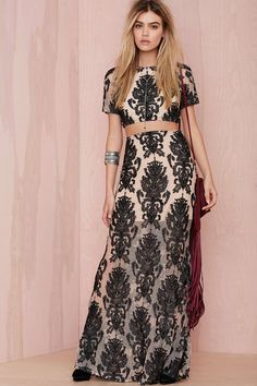 For Love and Lemons Ethereal Embroidered Skirt