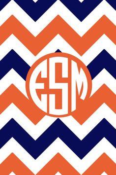 Chevron Background With Monogram S