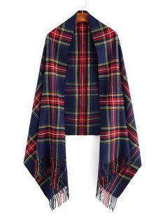 Shop Fringe Trim Plaid Scarf online. SheIn offers Fringe Trim Plaid Scarf & more to fit your fashionable needs.