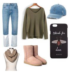 """""""Chilling"""" by makerdoodles on Polyvore featuring Ports 1961, UGG, Mudd, Gucci and Merona"""