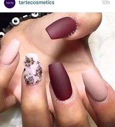 Laura G polish in Madrid and Fifth Ave- Fall matte nails. Are you looking for fall nail matte colors design for this autumn? See our collection full of cute fall nail matte colors design ideas and get inspired!