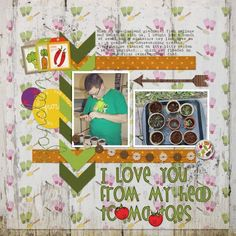 Planting Our Garden by Brenda Hollingsworth. Made with the Veggie Patch bundle from PixelScrapper.com