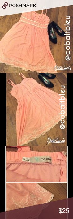 Pink Summer Dress This light pink dress is perfect for summer events and get togethers. Knee length, and there is a lining inside so no need for a slip. True to size, please don't hesitate to ask questions. Don't forget to bundle and save! ✅ Maurices Dresses
