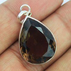 Smoky Quartz Sterling Silver Pendant – Jewels Exports