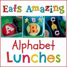 Eats Amazing UK - Alphabet Themed Food and Bento School Lunch Ideas for Children