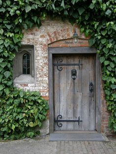 loooove weathered wood and particularly the incredible iron hinges!!!!!! soooo french!