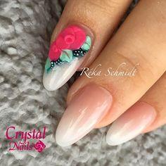 #babyboomer #crystalnails #rekaschmidt #acrilico #acrylicnails #acrylic #pink #stylish #style #pretty #3d #3dflowers