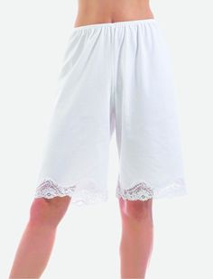 I got these and I LOVE them!!  SUPER comfy under my summer skirts!    Women's Illusion Pants Slip Pettipants Cotton Polyester Lace (Black/White/Beige)