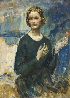 Ambrose McEvoy | Daphne, the honourable Daphne Baring, 1904-1986, wife of the sculptor