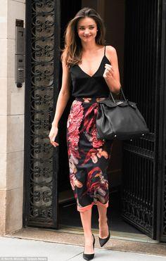 Miranda Kerr wearing a Sonia Rykiel Skirt