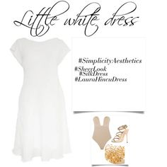 Little white dress by Laura Hîncu - Exclusive Fashion Design Little White Dresses, Sergio Rossi, Mix N Match, Silk Dress, Fashion Looks, Fashion Design, Shopping, Silk Gown
