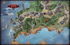 Now that the Hell's Vengeance books have started to roll out and reveal the map, here is the Cheliax region I painted up for Paizo! I kind of love doing these maps, they're great amount...