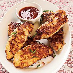 25 Healthy Chicken Breast Recipes | Pan Frying: Coconut Chicken Fingers | CookingLight.com