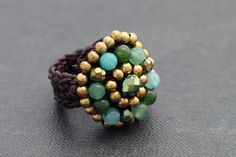 Jade Cocktail Knitted Ring