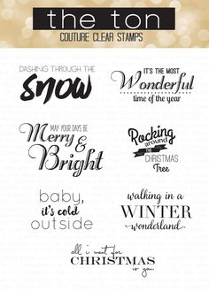 Holiday Lyrics Photopolymer Stamp Set {With the Holiday Bows Stamps and Dies, please}