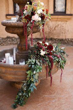 Denver Colorado wedding venue - Villa Parker - ceremony, outdoor, fountain, courtyard