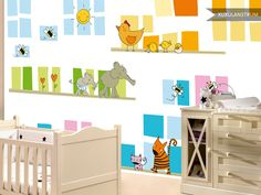 Papel de pared mural XuxuLanstrum modelo Animalitos