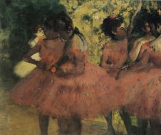 Edgar Degas - Dancers in Red Skirts