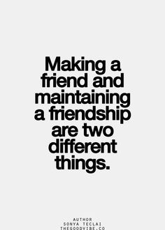 Making vs. Maintaining