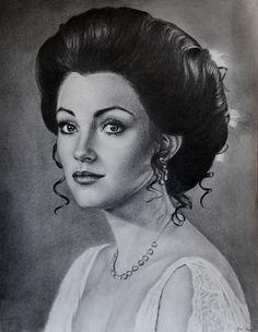 Somewhere in Time portrait by noeling on deviantART ~ Jane Seymour by Noel Cruz ~ pencil
