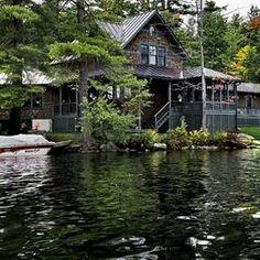rustic lake house