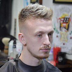 Men's Spiky Fade Haircut