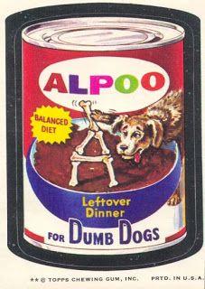 1960s 1970s wacky packs nostalgic memories ad stickers alpoo