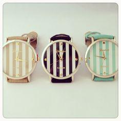 Stripes watch. In LOVE!
