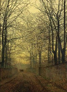 October Gold  Artist: John Atkinson Grimshaw