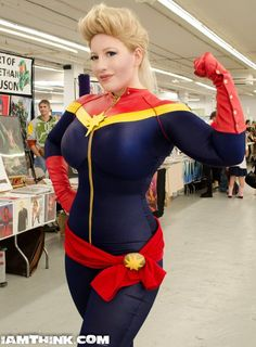 """Episode 2 - BelleChere awkwardinquiriespodcast: """" Join me as I interview legendary cosplayer BelleChere during the tail-end of Granite State Comic Con This interview was very much done on short. Ms Marvel, Marvel Art, Captain Marvel, Marvel Comics, Crazy Costumes, Wetsuit, Dress Up, Superhero, Swimwear"""