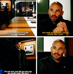 "#Arrow 5x12 ""Bratva"" - ""You really got a wiseass mouth on you, don't you?"" - #QuentinLance #ReneRamirez"